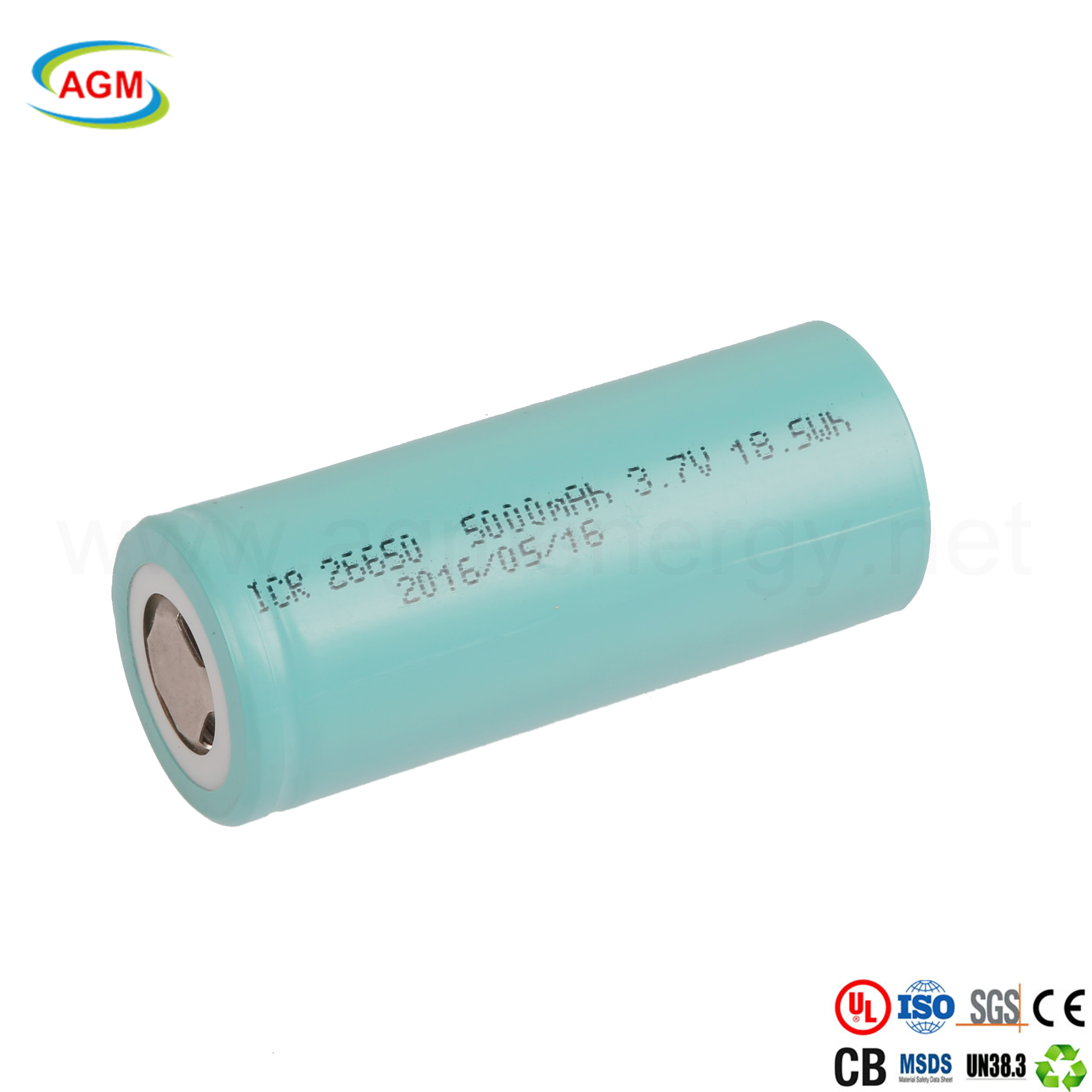 ICR 26650  5000mAh 3.7V 18.5Wh lithium-ion battery cell